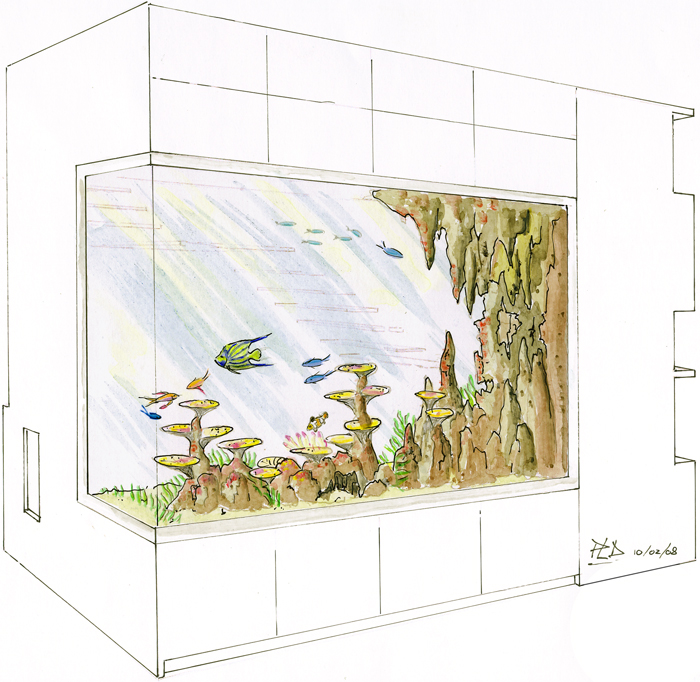 décoration aquarium sur mesure