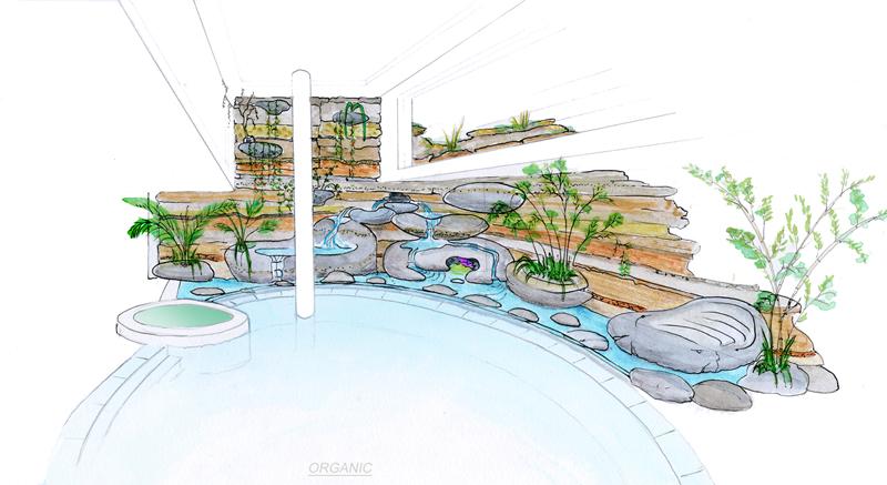 D coration de piscine et de spa avec les cosculptures de for Decoration pour piscine