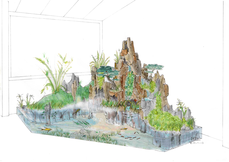 Indoor miniature japanese garden for Interieur d un couvent streaming
