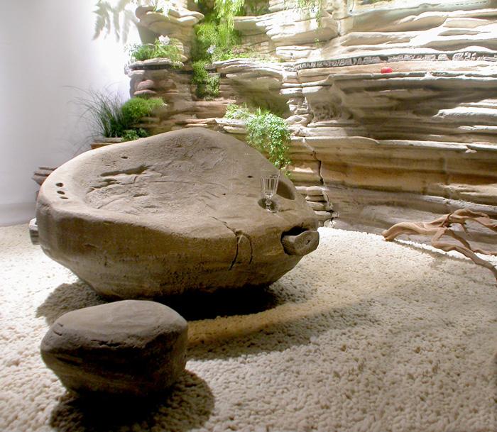 D coration de piscine et de spa avec les cosculptures de for Decor rocher piscine