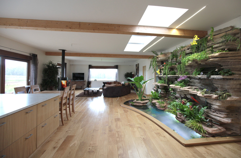 Indoor vertical garden for Aquarium interieur