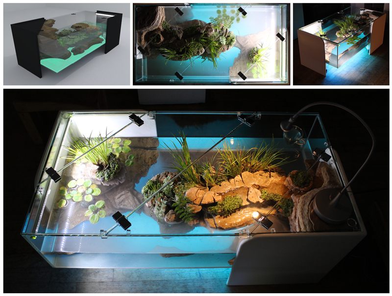 Decoration Aquarium L Ile Volcanique