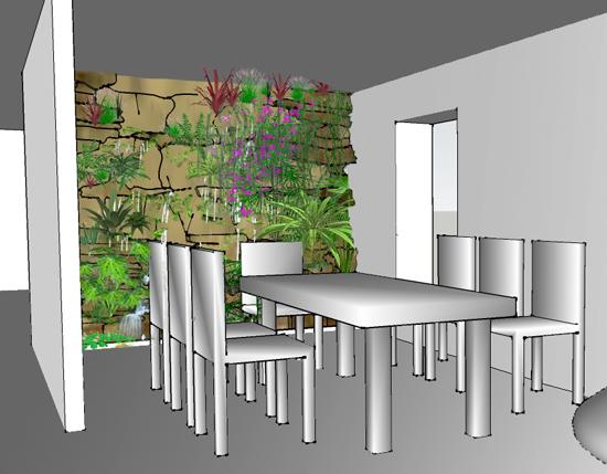 mur v g tal int rieur une d coration int rieure remarquable. Black Bedroom Furniture Sets. Home Design Ideas
